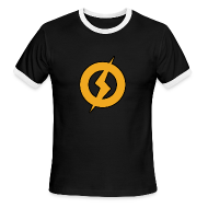 T-Shirts ~ Men's Ringer T-Shirt by American Apparel ~ Lightning Man Ringer Tee
