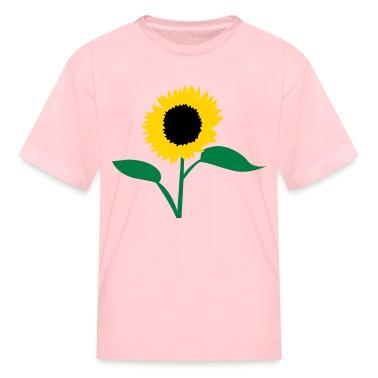 Orange summer sunflower Kids' Shirts