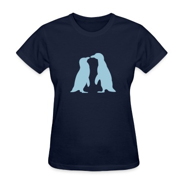 Penguins in love - love each other penguins Women's T-Shirts