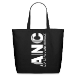 Alaska airport code United States  ANC black tote / beach  bag