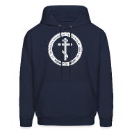 Hoodies ~ Men's Hooded Sweatshirt ~ Men's Navy Logo Hoodie