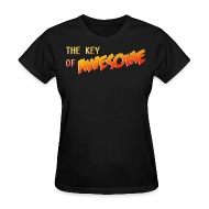 Women's T-Shirts ~ Women's Standard Weight T-Shirt ~ The Key of Awesome Ladies Logo