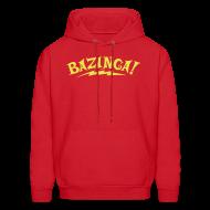 Hoodies ~ Men's Hooded Sweatshirt ~ Exclusive BAZINGA Hoodie Flex Design
