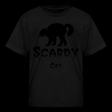 Orange Black cat Kids' Shirts