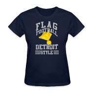 Women's T-Shirts ~ Women's T-Shirt ~ Detroit Flag Football Women's Standard Weight T-Shirt