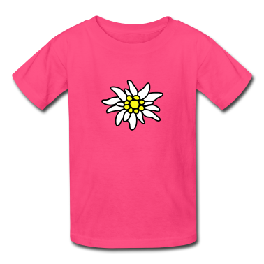 Hot pink Edelweiss Kids' Shirts