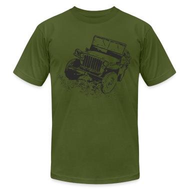 Olive jeep T-Shirts