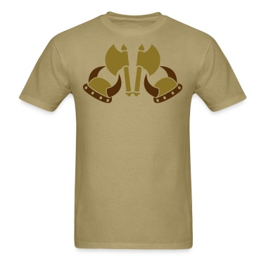 VIKING AXES AND HELMETS medieval weapons T-Shirts