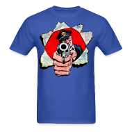 T-Shirts ~ Men's Standard Weight T-Shirt ~ Cop With Gun