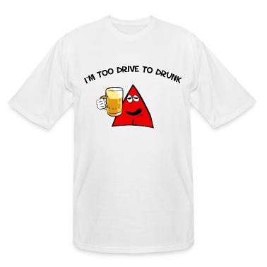 Sneables Men's tall beer drinking t-shirt