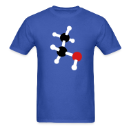 T-Shirts ~ Men's T-Shirt ~ YellowIbis.com 'Chemical Structures' Men's / Unisex Standard T: Ethanol (Color Choice)