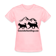 Women's T-Shirts ~ Women's Standard Weight T-Shirt ~ Two Huskies Women's T-Shirt