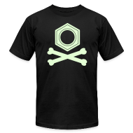 T-Shirts ~ Men's T-Shirt by American Apparel ~ YellowIbis.com 'Chemical One Liners' Men's / Unisex American Apparel T: Benzene Pirate (Black, Glow)