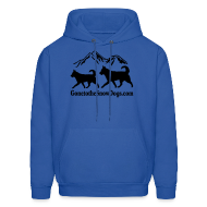 Hoodies ~ Men's Hooded Sweatshirt ~ Two Huskies Men's Hoodie