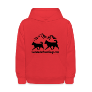 Sweatshirts ~ Kids' Hooded Sweatshirt ~ Two Huskies Children's Hoodie