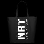 Tokyo airport code Japan NRT black tote / beach  bag