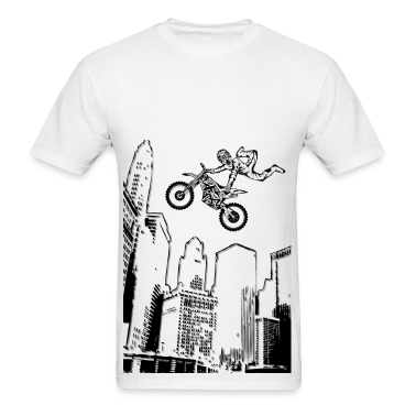Dirt Biking City-Scraper T-Shirts
