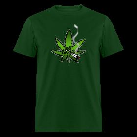 Stoned marijuana leaf ~ 351