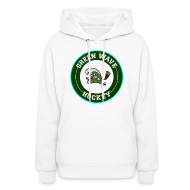 Hoodies ~ Women's Hooded Sweatshirt ~ Women's Greenie Sweatshirt
