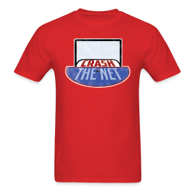 Crash The Net Red T-Shirt ~ 351