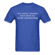 T-Shirts ~ Men's Standard Weight T-Shirt ~ Modal Epistemology SFW
