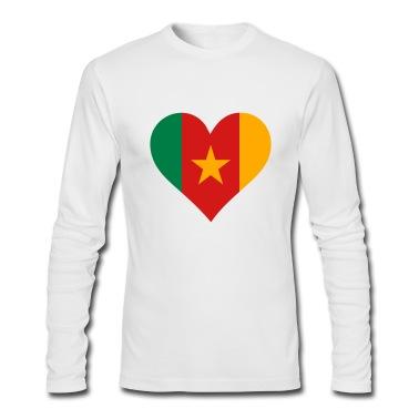 Heart Cameroon (3c) Long Sleeve Shirts
