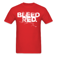 T-Shirts ~ Men's Standard Weight T-Shirt ~ Bleed Red - White Std.
