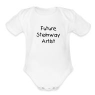 Baby & Toddler Shirts ~ Baby Short Sleeve One Piece ~ Future Steinway Artist