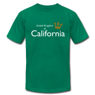 T-Shirts ~ Men's T-Shirt by American Apparel ~ United Kingdom of California