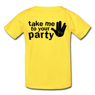 take me to your party nerd shirt Kids' Shirts