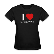 Women's T-Shirts ~ Women's Standard Weight T-Shirt ~ I Heart Steinway