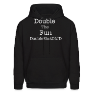 Hoodies ~ Men's Hooded Sweatshirt ~ Double The Fun