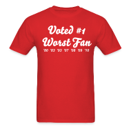 T-Shirts ~ Men's Standard Weight T-Shirt ~ Worst Fan Ever - Men's