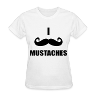 Women's T-Shirts ~ Women's Standard Weight T-Shirt ~ MUSTACHES!