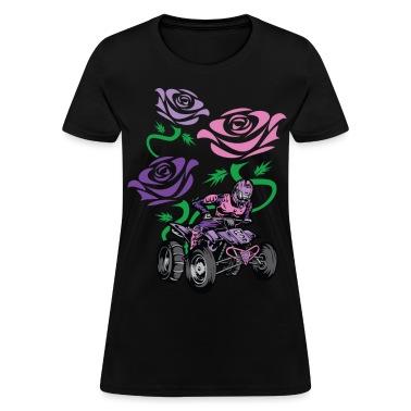 Flower Powered Quad Rider Women's T-Shirts
