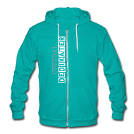 Zip Hoodies/Jackets ~ Unisex Fleece Zip Hoodie by American Apparel ~ DEDIKATER