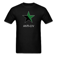 T-Shirts ~ Men's Standard Weight T-Shirt ~ Black and Green, Anti-Civ