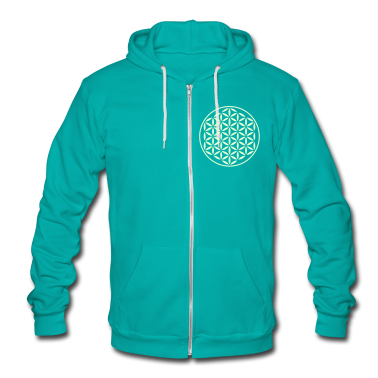 FLOWER OF LIFE - vector stamp | unisex fleece zip hoodie