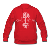 Hoodies ~ Women's Hooded Sweatshirt ~ Women's Cross-fetish hoodie with CFO on back