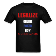 T-Shirts ~ Men's Standard Weight T-Shirt ~ Legalize Online Poker Now