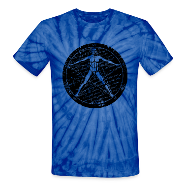 Agrippa Pentagram - Vitruvian Man (round for light T-Shirts