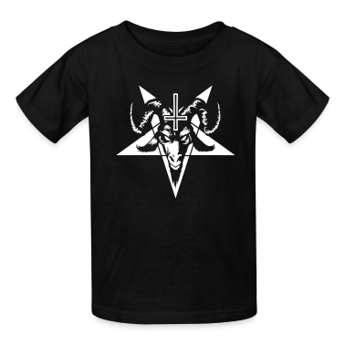 Satanic Goat Head with Pentagram (inverted) Kids' Shirts