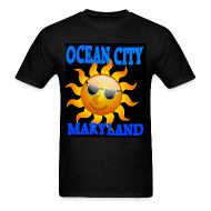Ocean City MD Short Sleeve T-Shirt Black  Sun  T-shirt