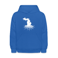Sweatshirts ~ Kids' Hooded Sweatshirt ~ Michigan Roots Kid's Hooded Sweatshirt