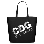 Paris airport code France CDG barcode des. black tote / beach  bag