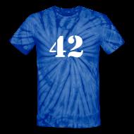 T-Shirts ~ Unisex Tie Dye T-Shirt ~ HITCHHIKER'S GUIDE 42 T-Shirt - Ringer T-Shirt