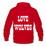 Zip Hoodies/Jackets ~ Unisex Fleece Zip Hoodie by American Apparel ~ LOVE WOLVES 09 HOODIE