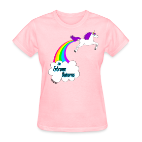 Women's rainbow farting unicorn tee | The Extreme Unicorns