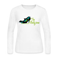 Long Sleeve Shirts ~ Women's Long Sleeve Jersey T-Shirt ~ The Minty women's long sleeved white