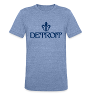 T-Shirts ~ Men's Tri-Blend Vintage T-Shirt ~ Fleur de lis Detroit
